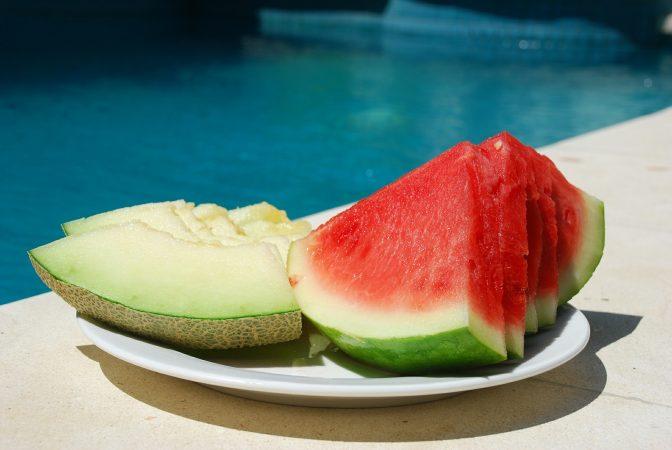 pemupukan buah melon