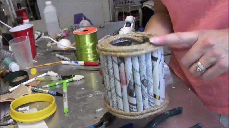 kerajinan dari limbah kertas dan cara membuatnya