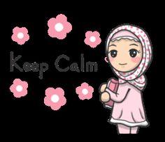 kartun muslimah sedih sendiri