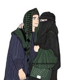 gambar kartun hijab