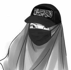kartun muslimah sedih menangis