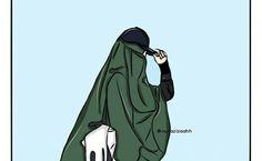 gambar kartun hijab bercadar