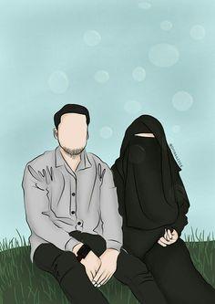 gambar kartun jilbab syar'i