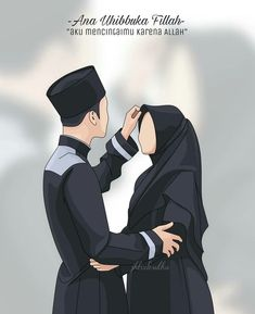 gambar kartun jilbab sedih