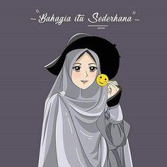 gambar kartun hijab cantik