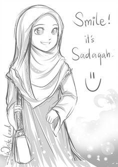 kartun muslimah cantik bercadar