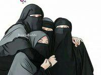 gambar kartun muslimah berjilbab