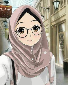 gambar kartun wanita muslimah bersedih