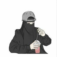 gambar kartun wanita muslimah bercadar