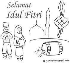 gambar kartun tidak memakai jilbab