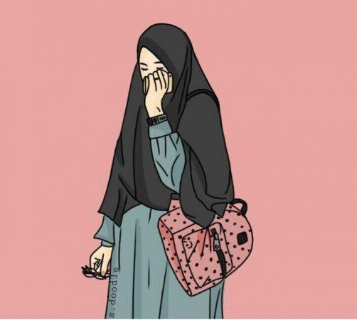 gambar kartun muslimah terbaru 2019