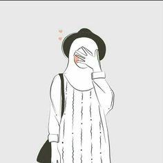 gambar kartun memakai jilbab