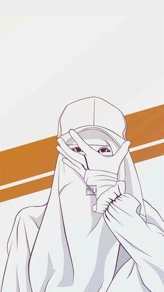 gambar kartun wanita memakai hijab