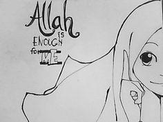gambar kartun memakai hijab syar'i