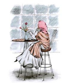 gambar kartun muslimah cantik dan imut