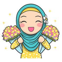 kartun muslimah cantik banget