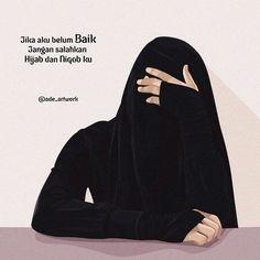 gambar kartun muslimah berhijab cadar