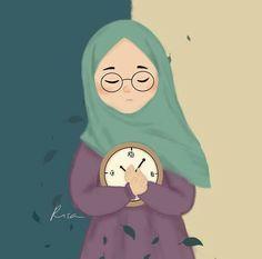 kartun muslimah menangis