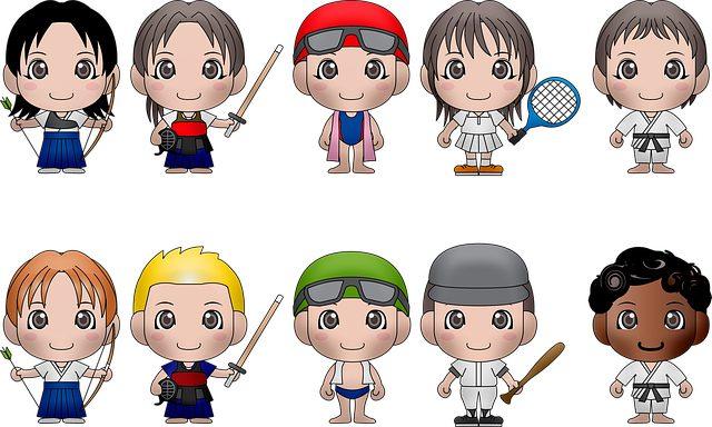 gambar kartun olahraga