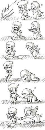 gambar kartun jilbab lucu