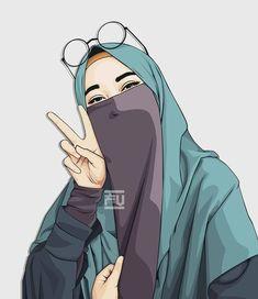 gambar kartun wanita muslimah bersahabat