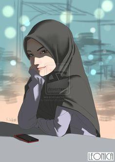 kartun muslimah cantik dan keren