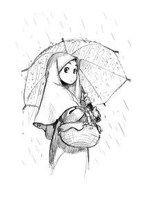 gambar kartun jilbab cantik