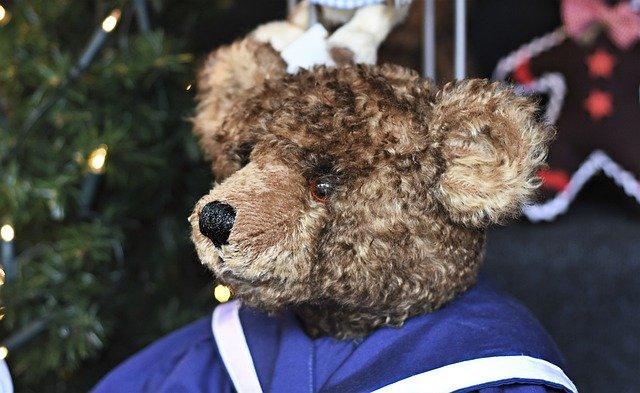 kartun teddy bear comel